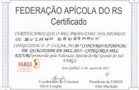 Apiário Gotas de Mel é Certificado com o melhor mel do Estado