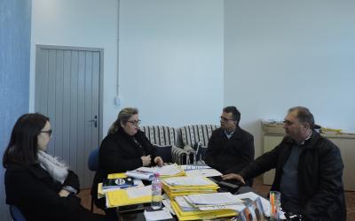 Reunião com o diretor do Hospital Montenegro
